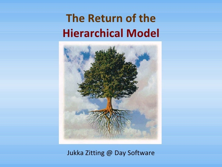 The Return of the Hierarchical Model Jukka Zitting @ Day Software