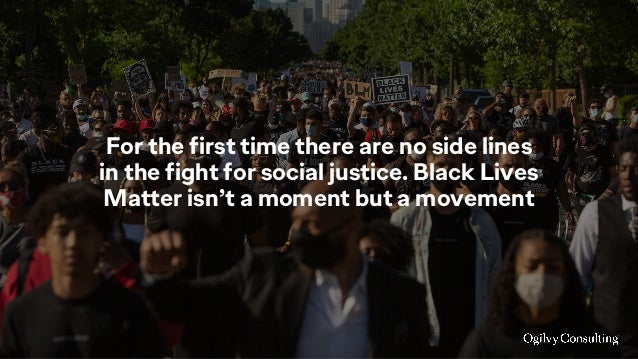 For the first time there are no side lines in the fight for social justice. Black Lives Matter isn't a moment but a moveme...