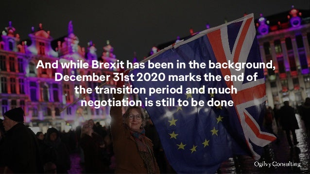 And while Brexit has been in the background, December 31st 2020 marks the end of the transition period and much negotiatio...