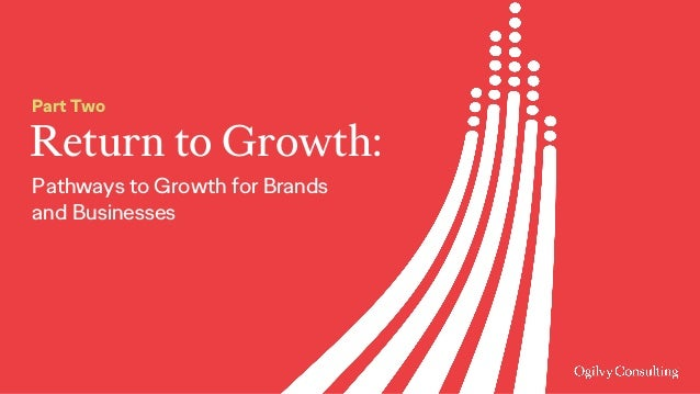 Return to Growth: Part Two Pathways to Growth for Brands and Businesses