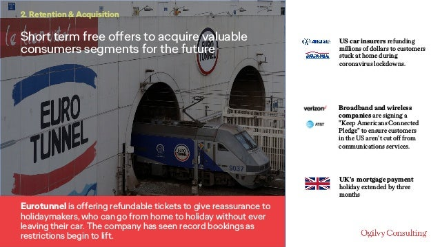 Short term free offers to acquire valuable consumers segments for the future 2. Retention & Acquisition Eurotunnel is offe...