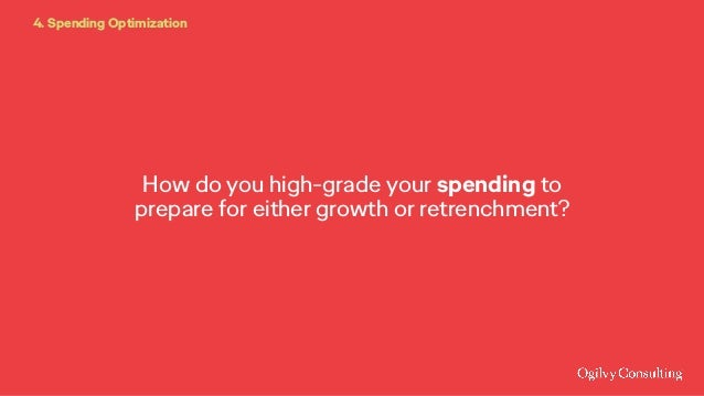 How do you high-grade your spending to prepare for either growth or retrenchment? 4. Spending Optimization