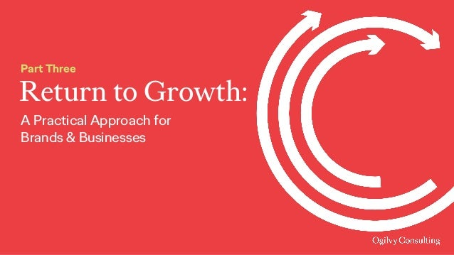 Return to Growth: Part Three A Practical Approach for Brands & Businesses