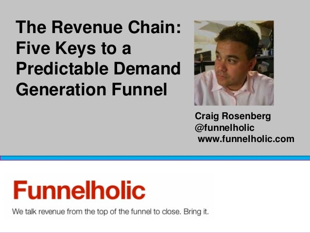The Revenue Chain:Five Keys to aPredictable DemandGeneration Funnel                     Craig Rosenberg                   ...