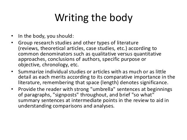 Review of related literature in thesis