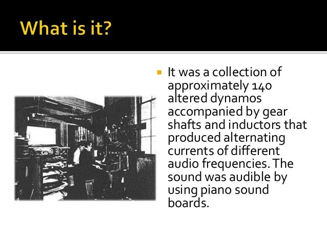 the history of electronic instruments and electronic sound Electronic music the best electronic bands & artists   is defined as using and employing electronic instruments  the future sound of london acid techno,.