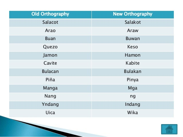 on the new orthography of the tagalog language Cebuano orthography is guided by the legal provision that whenever it shall be indispensable to form new words, these shall be taken principally from the classical languages, such as greek and latin, especially for scientific, literary and.