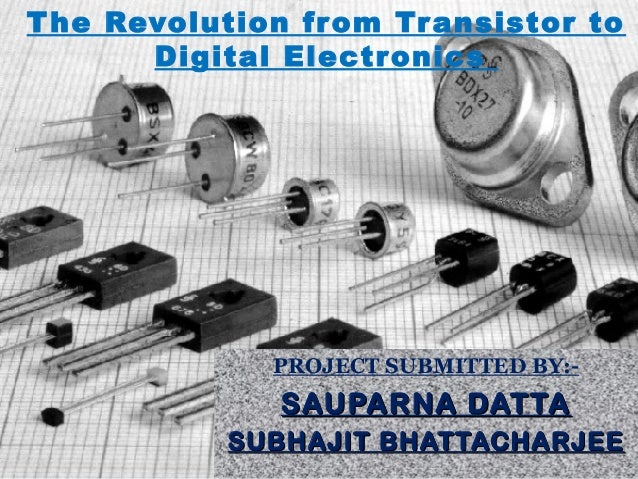 The Revolution from Transistor to Digital Electronics