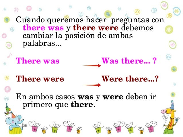 how to use there was and there were