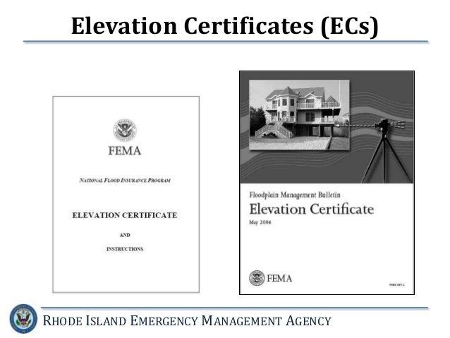 Lowest Floor Elevation Fema Form : National flood insurance program the new fema guidelines