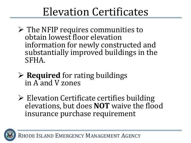 Lowest Floor Elevation On Elevation Certificate : National flood insurance program the new fema guidelines
