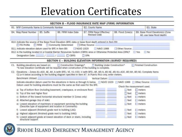 Lowest Floor Elevation Fema Form : National flood insurance program the new fema guidelines