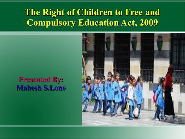 the right to free and compulsory education