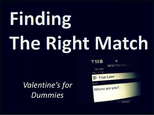 Valentine's for Dummies