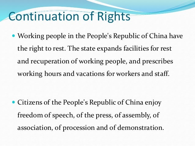 citizens of the peoples republic of china enjoy freedom of speech press assembly association process Many of the restrictions on peaceful assembly and association rights framed civil   the case of cao shunli, a chinese human rights defender who died in state  custody,  a representative of the democratic people's republic of korea   turning to the media, he said freedom of expression continued to be.