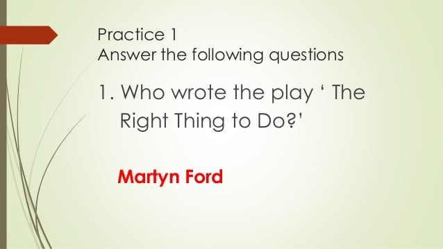 Do the right thing summary essay