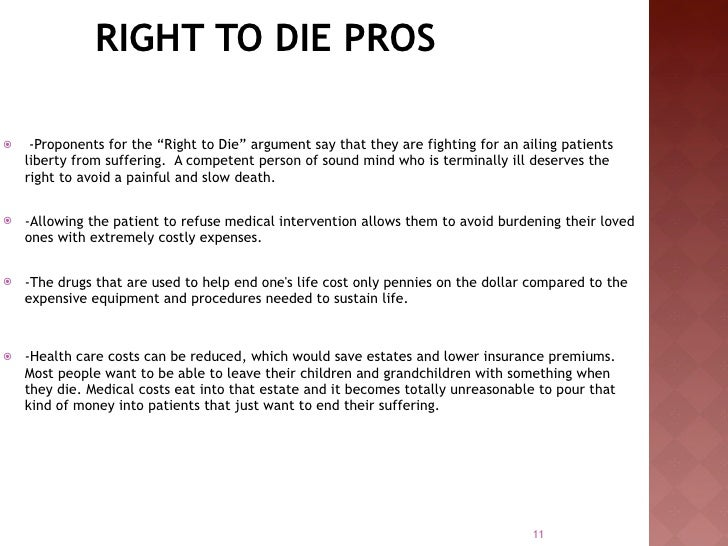 The right to die essays