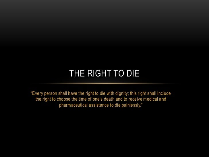 right to die essay euthanasia