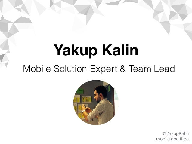 The right tool / technology for the right job : by Yakup Kalin (ACA IT-Solutions) Slide 2
