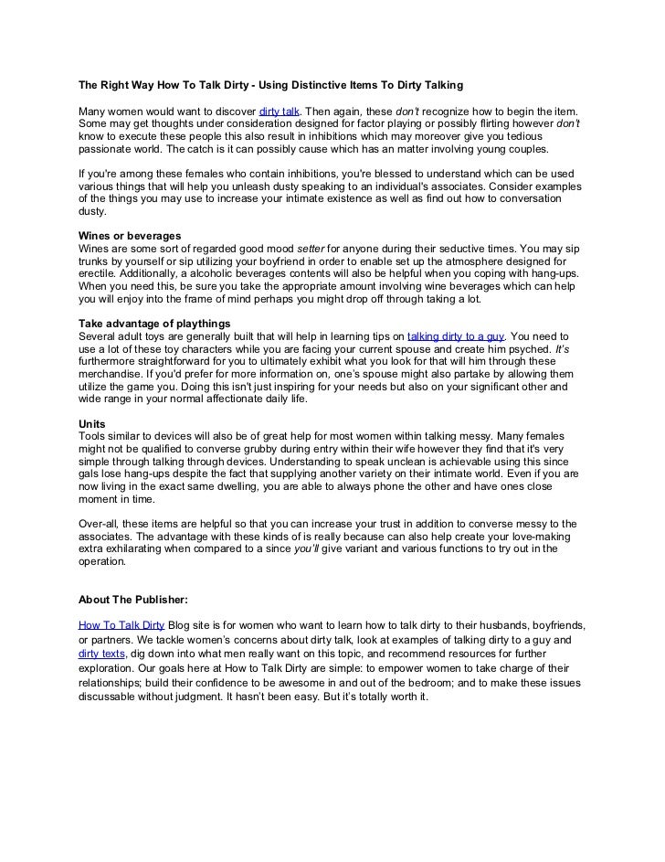 Talking Dirty Examples Image Collections Example Cover Letter For