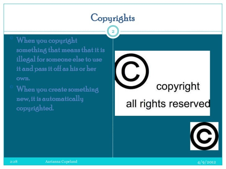 how to make something copyright