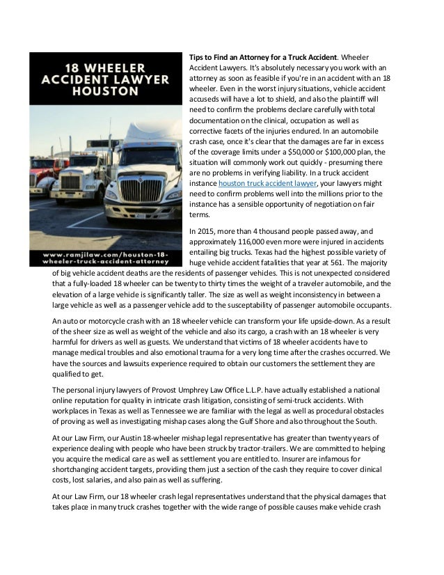 The right way to select an attorney for a truck accident