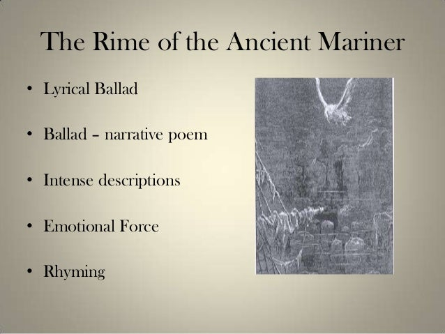 a summary of the essay of the rime of the ancient mariner