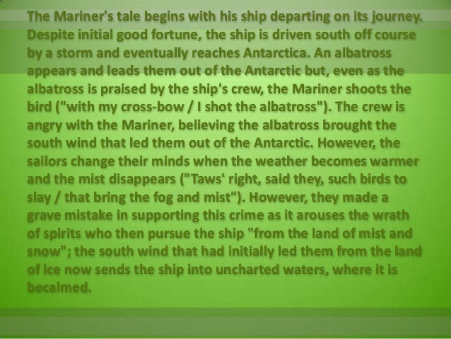 rime of the ancient mariner theme essay Welcome to nebo literature login nebo literature the rime of the ancient mariner themes: we are all.