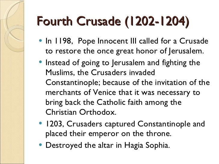 rise of the third crusade with The crusades were a series of religious wars between christians and muslims  over  (though without the city of jerusalem) and ended the third crusade   with the rise of the reformation and the corresponding decline of papal authority.