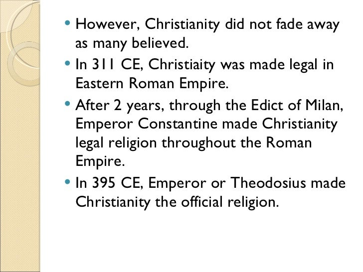 rise of christianity in roman empire essay Roman empire essay the roman empire underwent a change politically as the empire collapsed due to the rise of christianity in the roman empire roman.