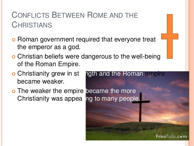 role of roman emperors in the spread of christianity essay At that opportune moment christianity attacked paganism and clipped its wings christian beliefs made heavy inroads into teutonic barbarians the christian religion spread so rapidly that soon it became the legal or official religion of the roman empire.