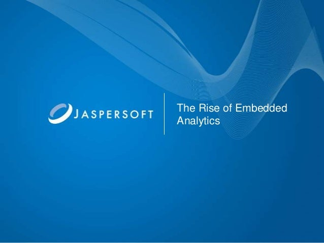 The Rise of Embedded Analytics