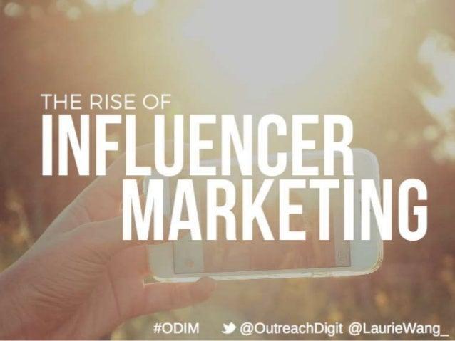 THE RISE O %      #ODIM 9 @OutreachDigit @LaurieWang_