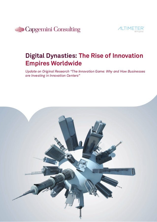 "Digital Dynasties: The Rise of Innovation Empires Worldwide Update on Original Research ""The Innovation Game: Why and How ..."