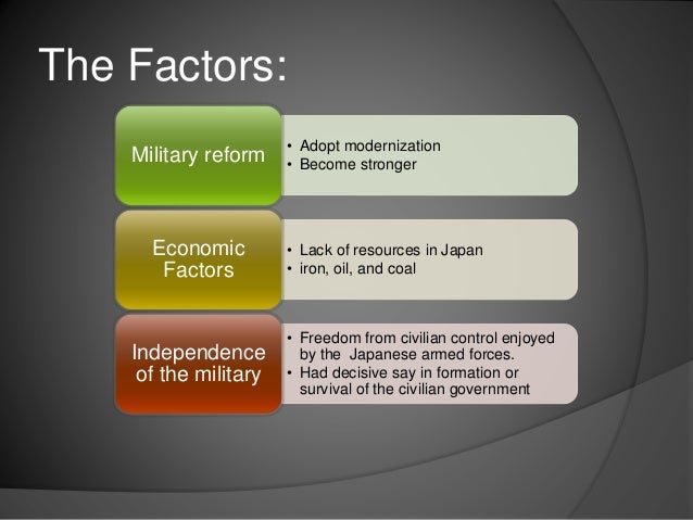 rise of militarism in japan essay There was a significant rise in the army and naval estimates of the european powers in these years rise in military expenditure  world war i - militarism.
