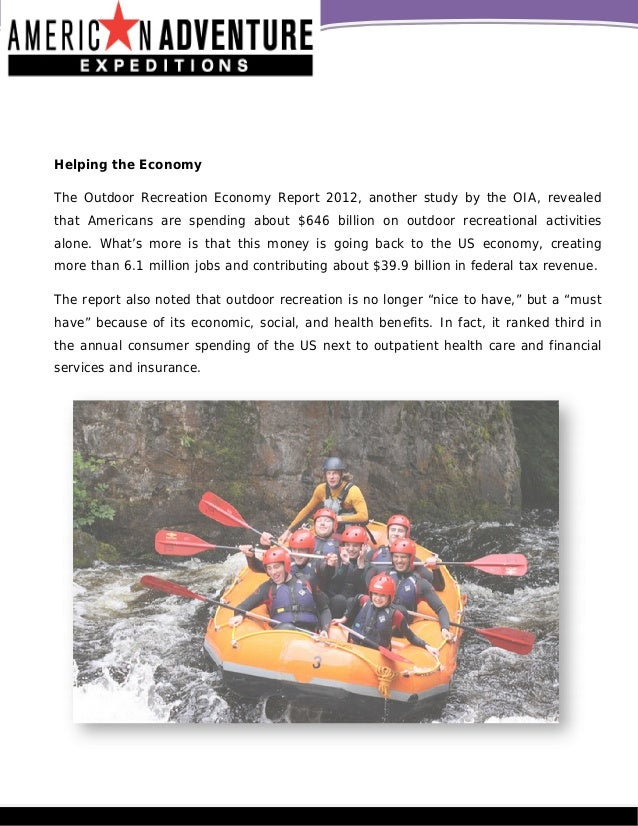 economic benefits of recreational activities