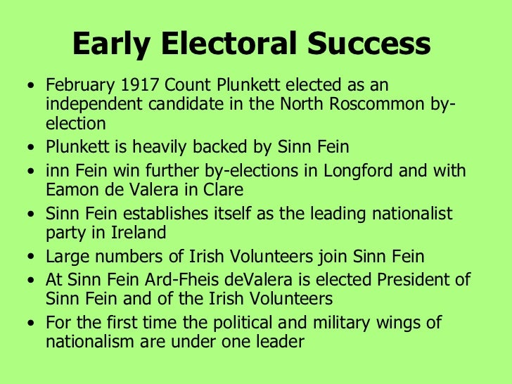 the rise of sinn fein essay Easter rising and rise of militant nationalism 1 the 1916  the rise of sinn fein keywords:  these voters largely supported sinn fein 27 essay question.
