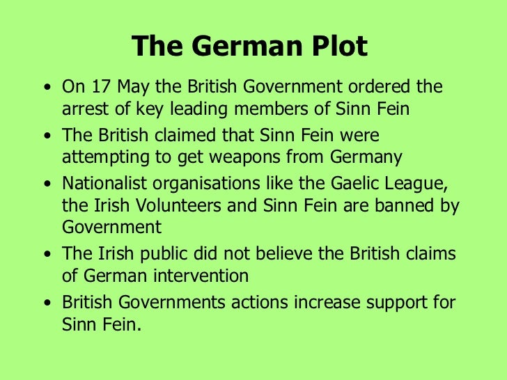 the rise of sinn fein essay History history of the conflict section was in the process of abandoning the demand for complete british withdrawal from ireland and went on to become sinn f in the workers party (the remnants of which were recently subsumed into the labour party.