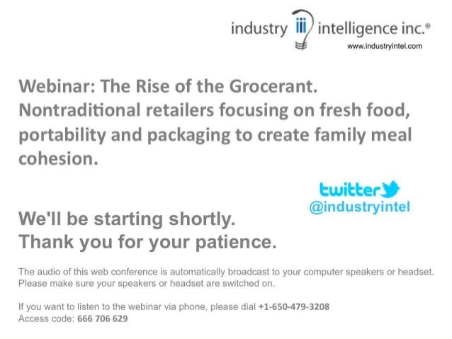Foodservice Solutions® Steven Johnson-Grocerant Guru                    The Rise of the Grocerant:      A Look at the unde...