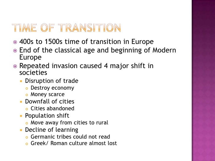 The Rise Of The Middle Ages Slide 2