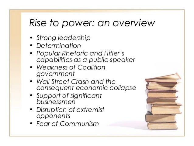 rise of nazi party essay Nazi propaganda hitler's rise to power essay bibliography the rise of hitler (nazi propaganda) one of which was the nazi party many germans did not support the nazi party, the nazi party only had 30% of germany's vote (why germans supported hitler.