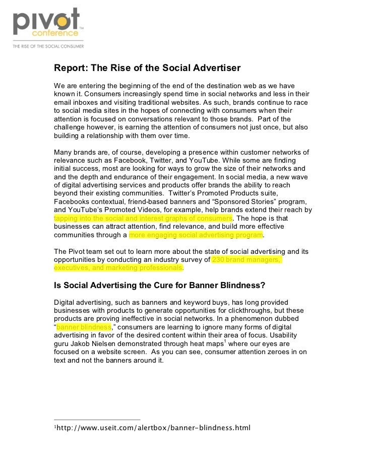 !Report: The Rise of the Social AdvertiserWe are entering the beginning of the end of the destination web as we haveknown ...