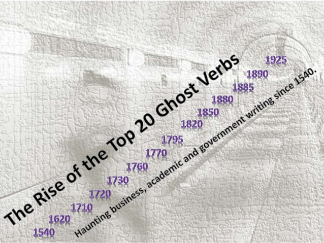 The rise of the top 20 ghost verbs