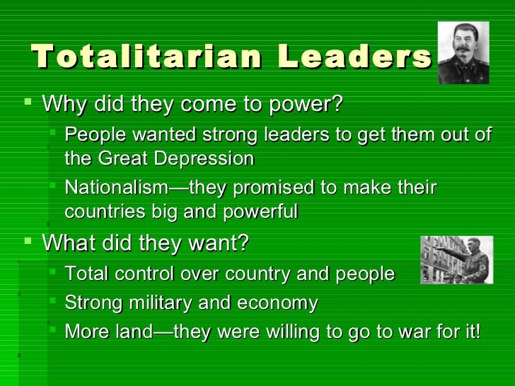the terrors of a totalitarian government This site might help you re: stalin and totalitarianism hello fellow intellectuals i have a project to do for a class on stalin&#39s totalitarian state of russia as a result, i need examples of why russia was totalitarian under his rule, some examples of how he was a harsh ruler, and, well, you get.