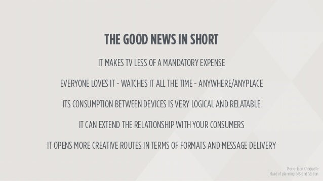 THE GOOD NEWS IN SHORT IT MAKES TV LESS OF A MANDATORY EXPENSE EVERYONE LOVES IT - WATCHES IT ALL THE TIME - ANYWHERE/ANYP...