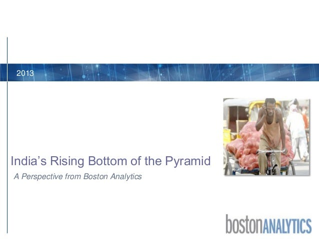 A Perspective from Boston Analytics India's Rising Bottom of the Pyramid 2013