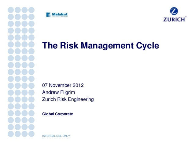 The Risk Management Cycle07 November 2012Andrew PilgrimZurich Risk EngineeringGlobal CorporateINTERNAL USE ONLY