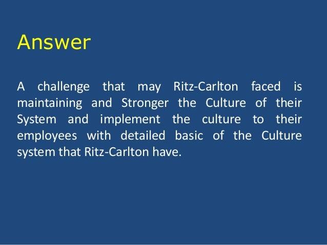 The Ritz Carlton Hotel Marketing Essay