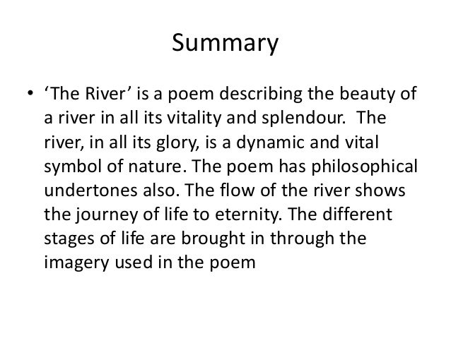 The river summary