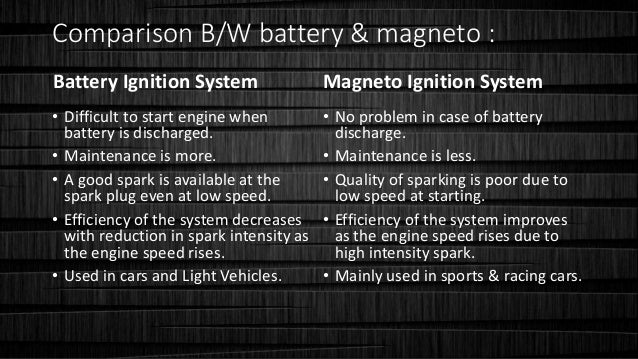 Thermal Eng- Ignition Systems